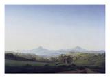 Boehmische Landschaft Mit Dem Milleschauer Giclee Print by Caspar David Friedrich