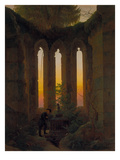 The Grave of Ulrich Von Hutten, 1824 Posters by Caspar David Friedrich