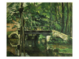 Die Bruecke in Maincy. Gegen 1879 Giclee Print by Paul Cézanne