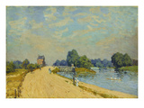 Street in Hampton Court, 1874 Giclee Print by Alfred Sisley