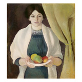 Portrait with Apples, 1909 Giclee Print by Auguste Macke