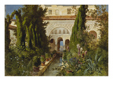 The Garden of the Generalife Palace, Granada, 1885 Poster by Ludwig Hans Fischer