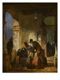 Customs Examination, about 1855 Art by Carl Spitzweg