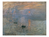 Impression soleil levant, 1872 Reproduction procédé giclée par Claude Monet