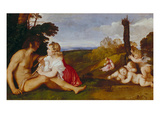 The Three Stages of Life Plakater af Titian (Tiziano Vecelli)