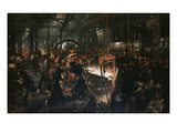 The Iron Mill Giclee Print by Adolph von Menzel