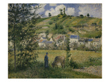 Landscape at Chaponval, 1880 Prints by Camille Pissarro