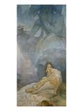 Tragoedie. Entwurf Fuer Eine Dekoration des Deutschen Theaters in New York Prints by Alphonse Mucha