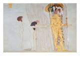 Beethoven-Frieze, 1902: the Longing for Happiness Giclée-Druck von Gustav Klimt
