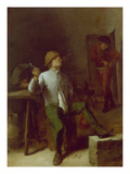 Peasant Smoking a Pipe Giclee Print by Adriaen Brouwer
