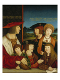 The Emperor Maximilian I with His Family, 1515 Giclee Print by Bernhard Strigel