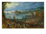 Large Fishmarket, 1603 Giclee Print by Jan Brueghel the Elder