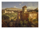 The Generalife Palace, Granda, 1862 Giclee Print by Eduard Gerhardt