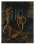 Three Young Men under Orange Trees, 1874/1880 Giclee Print by Hans Marées