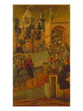 The Entry into Jerusalem, 1308-11 Gicle-tryk af Duccio di Buoninsegna