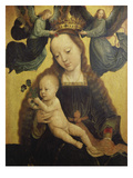 Madonna and Child Crowned by Two Angels, about 1520 Print by Gerard David