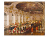 Gala Dinner in the Castle Schoenbrunn Giclee Print by Fritz L'Allemand