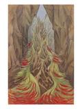 Felsgrotte Mit Loderndem Fluss Giclee Print by Hermann Obrist