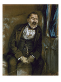 Man Yawning in a Railway Carriage, 1859 Giclee Print by Adolph von Menzel