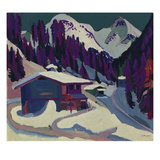Wildboden with Snow, 1924/26 Giclee Print by Ernst Ludwig Kirchner