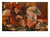 A Tax Collector with His Wife, 1538 Giclee Print by Marinus Van Reymerswaele
