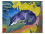 Blue Fox, 1911 Reproduction procédé giclée par Franz Marc