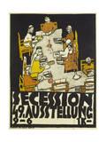 Egon Schiele - Poster for the Vienna Secession, 49th Exhibition, 1918 Digitálně vytištěná reprodukce