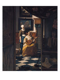 The Love Letter, about 1670 Giclee Print by Jan Vermeer