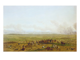 The Battle Near Wagram 1808. Originated 1811 Giclee Print by Wilhelm von Kobell