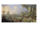 Ankunft Zweier Venez. Botschafter Vor Der Treppe des Lond.Towers 1707 Giclee Print by Luca Carlevarijs