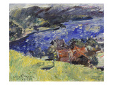 Lake Walchen (The Yellow Meadow), 1921 Print by Lovis Corinth
