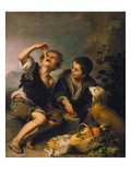 Children Eating a Pie, about 1670/75 Giclee Print by Bartolomé Estéban Murillo