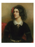Portrait of Lola Montez (1820-1861). Painted 1847 Print by Joseph Karl Stieler