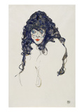 Woman with Long Hair, 1914 Giclee Print by Egon Schiele
