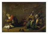 Witchcraft. Wood, 30 X 45 Cm Prints by David Teniers