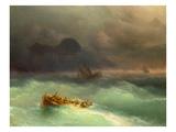 The Shipwreck, 1873 Giclee Print by Konstantinovich Ivan Aiwassowskij