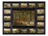 Aus Dem Zyklus Die Vier Erdteile: Amerika, 1666 Giclee Print by Jan van Kessel