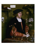 Portrait of the Merchant George Gisze, 1532 Giclee Print by Hans Holbein