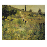 Slightly Uphill Path in the Countryside (Summer), about 1875 Giclee Print by Pierre-Auguste Renoir