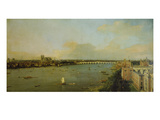 View of London with Thames, 1746/1747 Giclee Print by  Canaletto