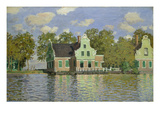 Houses on the Bank of the River Zaan, 1871/72 Giclee Print by Claude Monet