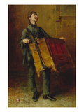 The Organ Grinder, 1869 Giclee Print by Ludwig Knaus