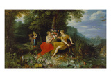 Water and Earth. (In Co-Operation with Frans Francken the Younger) Giclee Print by Jan Bruegel the Younger