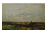 Quiet Summer Day in the Marsh Near Dachau Giclee Print by Toni von Stadler