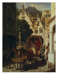 The Wedding Journey, about 1855 Giclée-Druck von Moritz Von Schwind
