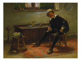 Pipe Smoker in a Traditional German Dressing, 1893 Giclee Print by Albert Schröder