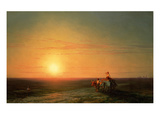 Peasants Returning from the Fields at Sunset, 187() Giclee Print by Konstantinovich Ivan Aiwassowskij