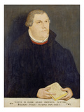 Portrait of Martin Luther, 1568 Giclée-tryk af the Elder (Studio of), Lucas Cranach