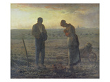Evening Prayer (L'Angélus), 1857/59 Prints by Jean-François Millet