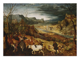 The Return of the Herd. (From: the Seasons), 1565 Giclee Print by Pieter Bruegel the Elder